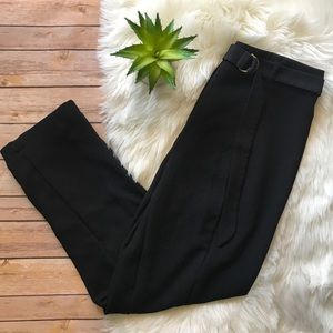 LIKE NEW Who What Wear Black Belted Trousers